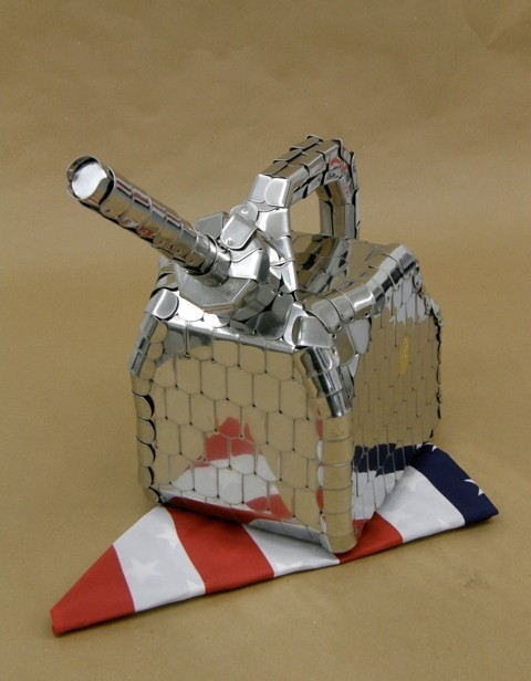 Final Project, Gas Can (made from military dog tags) / Daniel Kendall